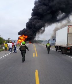 7 doden en 45 gewonden door explosie brandstoftruck in Magdalena