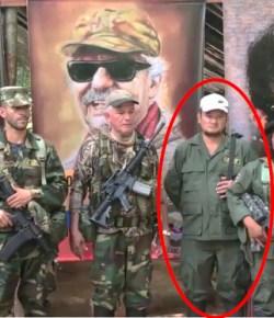Ariel gevangen genomen, een lid van de dissidentengroep FARC van  Iván Márquez