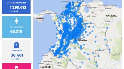 Coronacijfers van 28 november: Colombia telt nu 1.299.613 coronabesmettingen