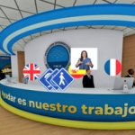 Imagen de la recepción del centro de convenciones virtual