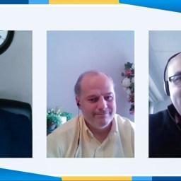 El licenciado Ignacio Velo y el Dir. general de Lantegi Batuak, Txema Franco comparten sus opiniones con los asistentes.