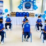 Con gran emoción los estudiantes de la Institución Educativa Puerto César, sede Puerto Bello en Turbo • Antioquia recibieron kits de útiles escolares.