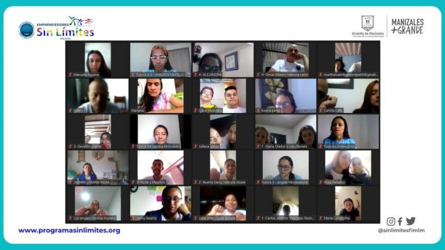 Encuentro de familias con los participantes de Emprendedores Sin Límites. Agosto 2021