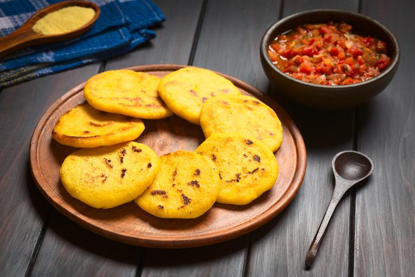 Arepa uit Colombia