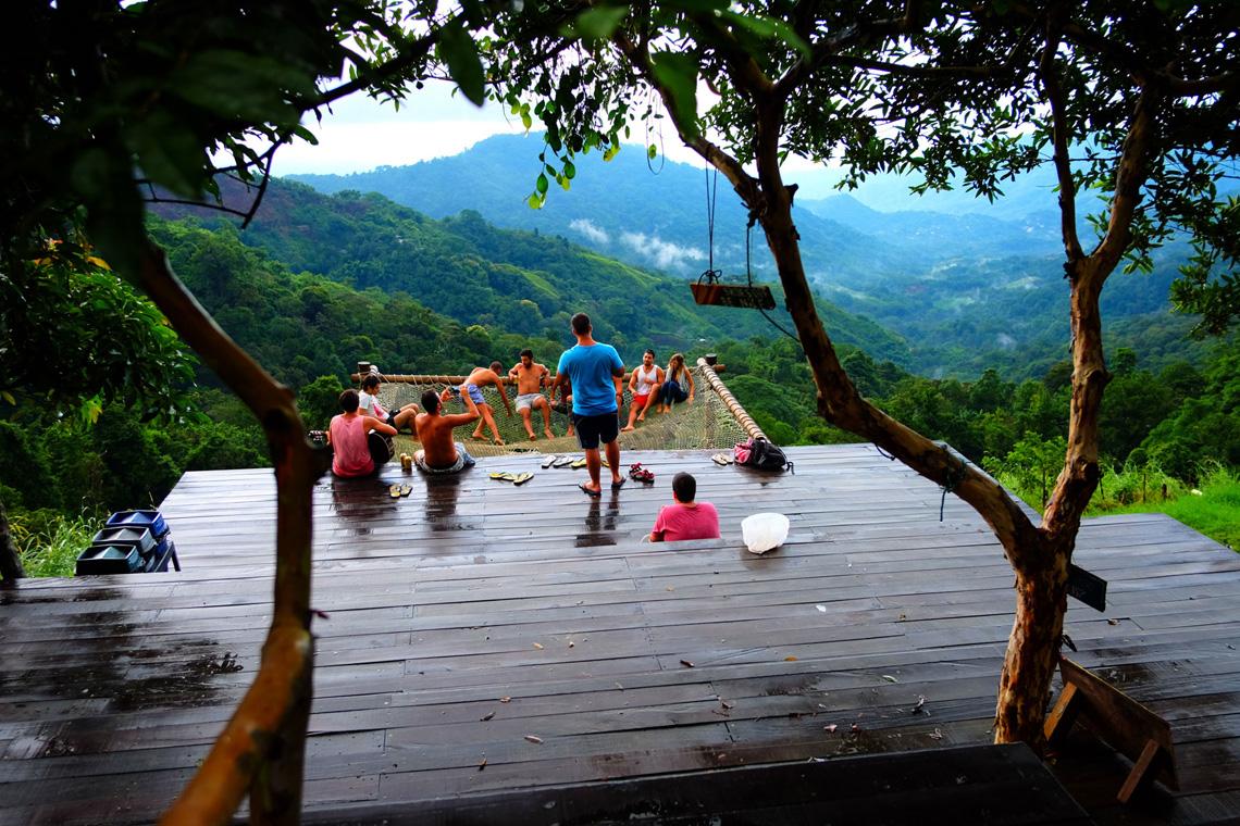 Giga hangmatten in Minca Colombia