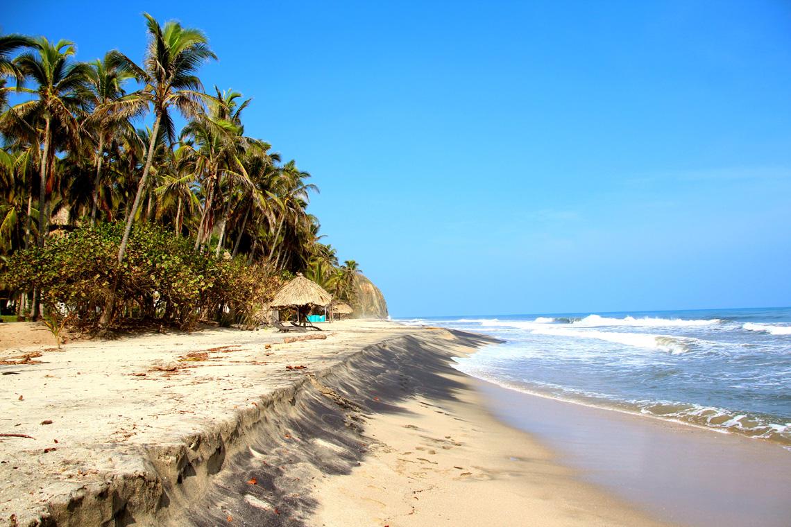 Stranden Palomino Colombia