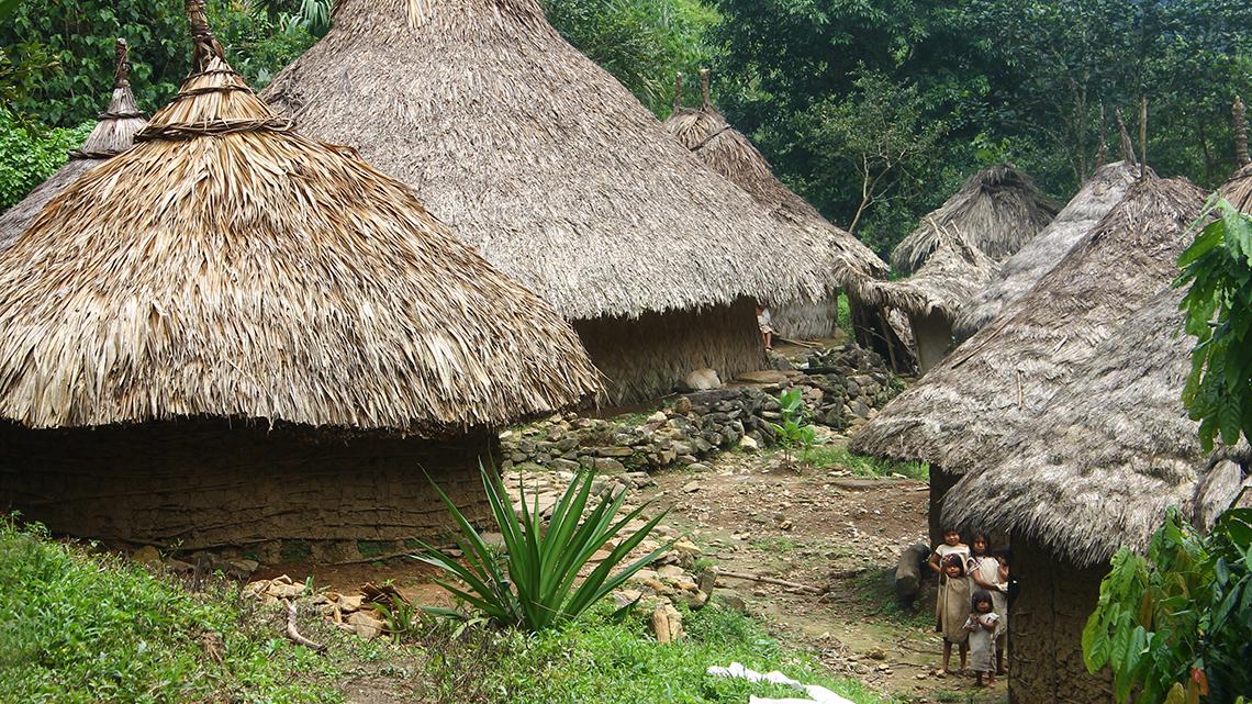 Kogi Indianen in Mutanyi Ciudad Perdida
