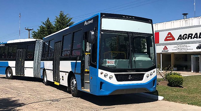AGRALE LAUNCHES THE MA27.0 FRONT ENGINE ARTICULATED BUS IN ARGENTINA