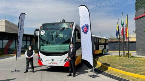 SCANIA PRESENTS A NEW CNG ARTICULATED BUS EURO VI IN MEXICO