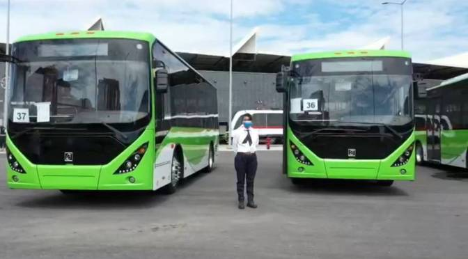 THE FIRST URBAN ELECTRIC BUS ROUTE IN MEXICO BEGINS OPERATION