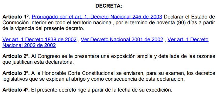 1.1 primer estado de conmoción interior en el gobierno. Decreto De Estado De Conmocion Interior Del 5 De Mayo De 2021 Que Rota En Redes Es Falso Colombiacheck