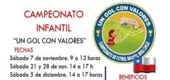 """Participa del campeonato de FUTBOL para niños: """"Un Gol con Valores"""""""