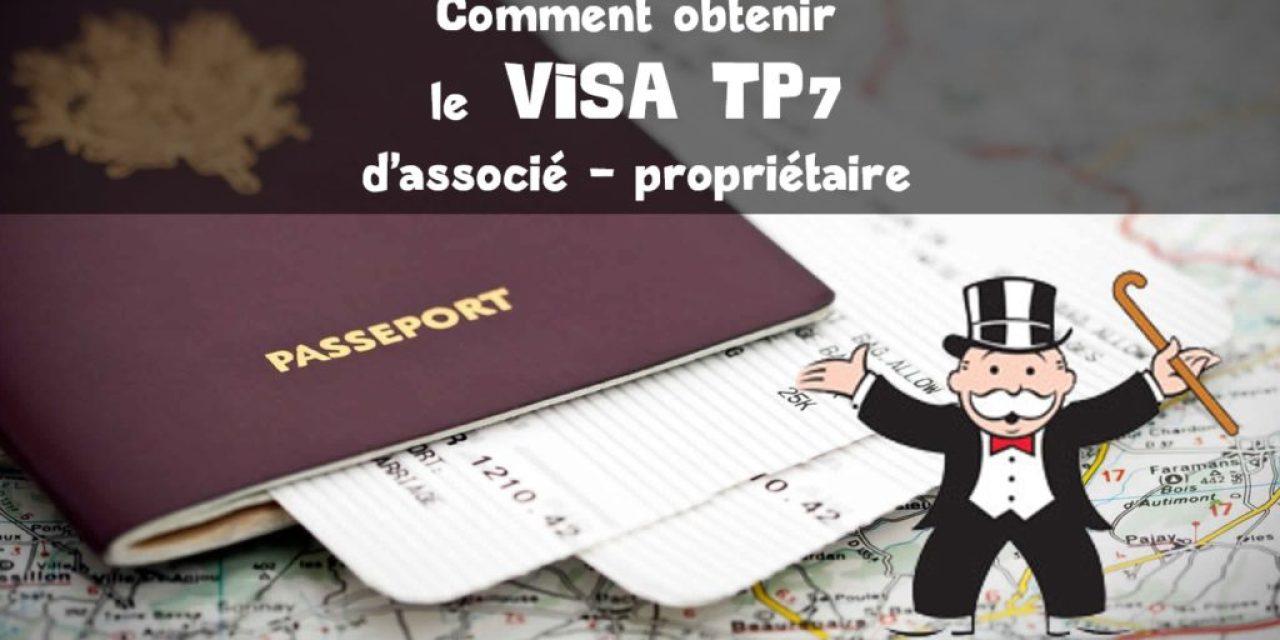 Visa TP7 – Associé propriétaire de société