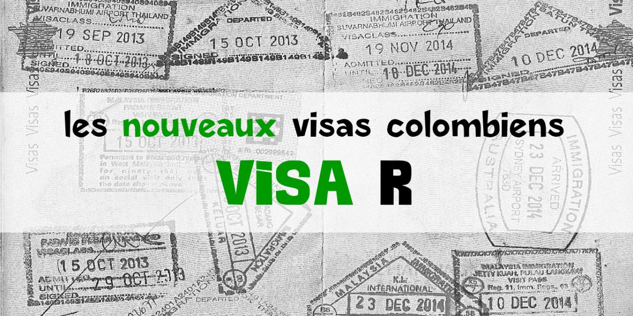 Visa R colombien : le visa de résident