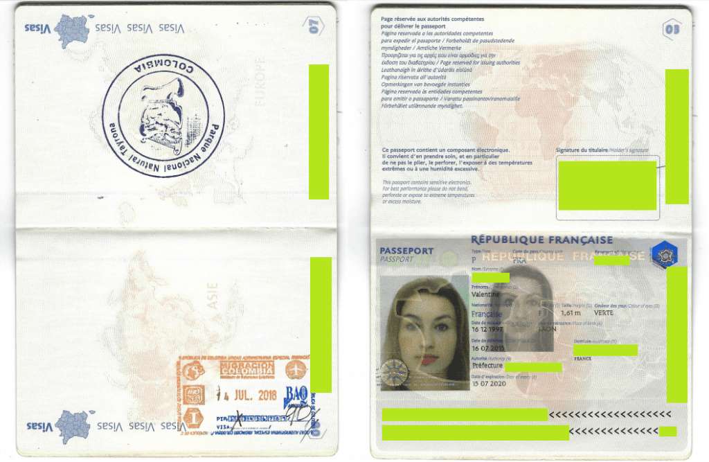 Passeport Valentine documents renouvellement PIP