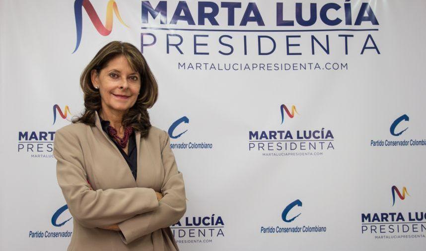 Marta Lucía Ramirez campaña presidencia partido conservador