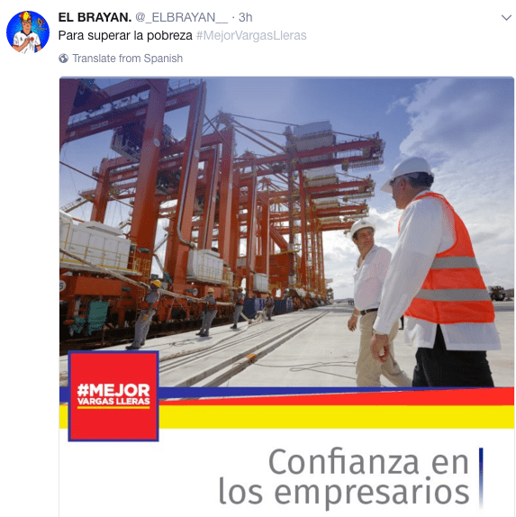 Cuenta falsa Vargas Lleras colombiano indignado
