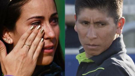 Mariana Pajón y Nairo Quintana
