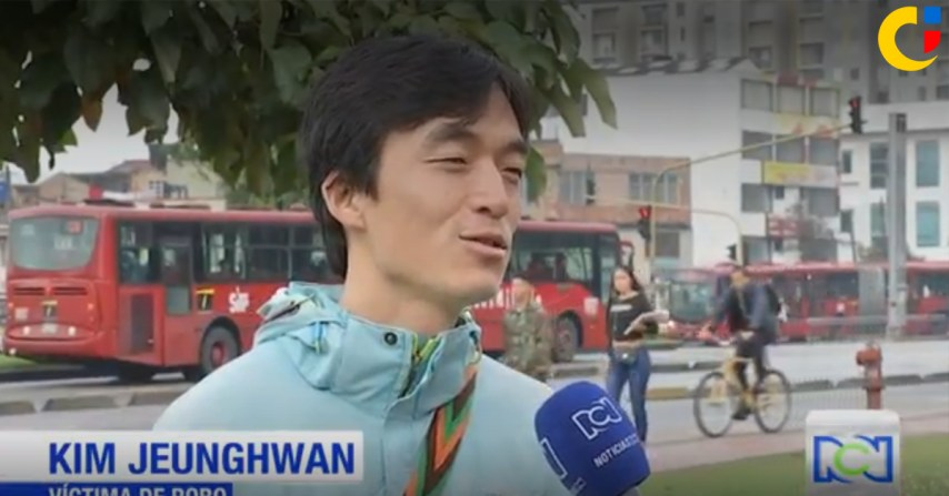 coreano bogota bicicleta