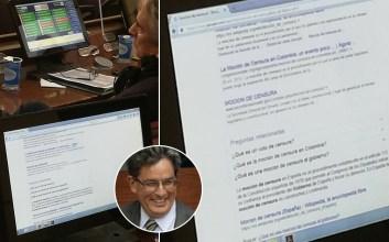 mocion de censura debate congreso senador