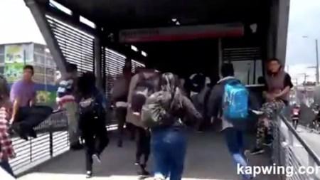 transmilenio estudiantes bogota protesta