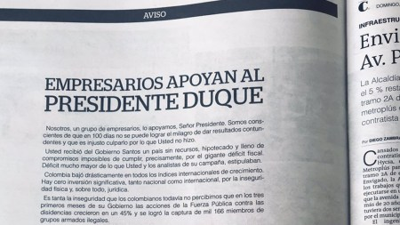 empresarios ivan duque apoyo presidente