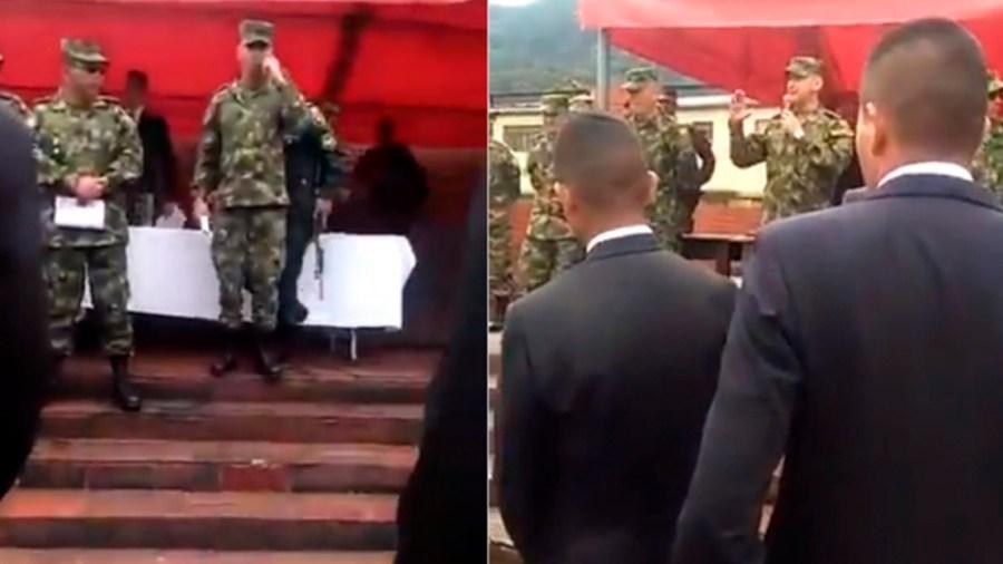 solados colombia ceremonia ejército