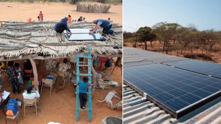 paneles solares guajira
