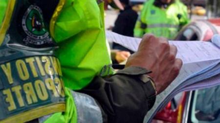 policia comparendo congreso