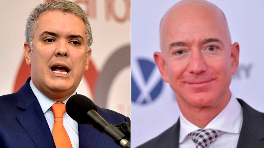 jeff bezos ivan duque amazon