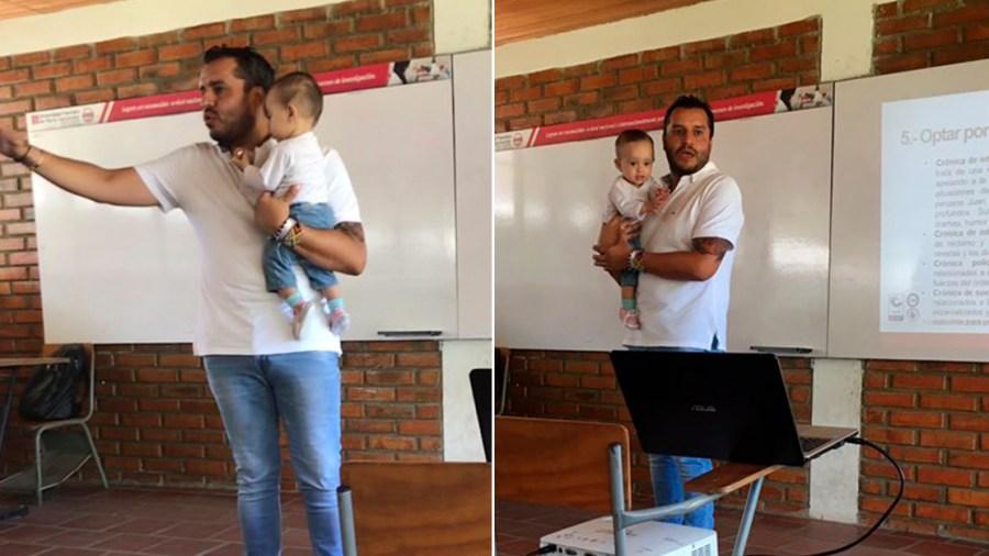 profesor bebé