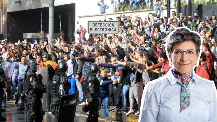 Resultado de imagen para claudia protestas