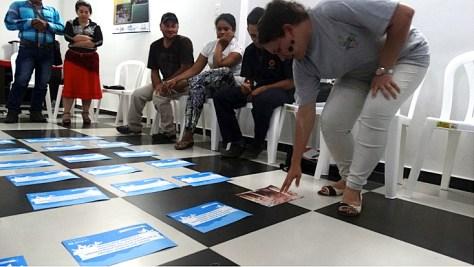 Taller de Educación en el Riesgo de Minas con sobrevivientes. Barrancabermeja, octubre 2015.