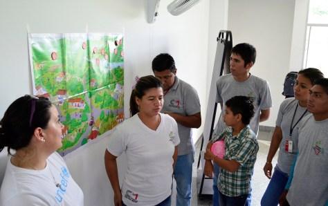 Voluntarios de la CCCM en el departamento de Arauca, en un taller de formación en Tame, con el acompañamiento de Unicef