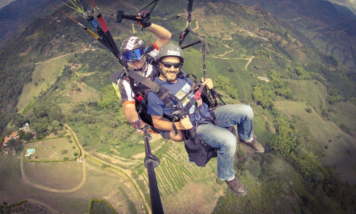 Paragliding coffee cultural landscape