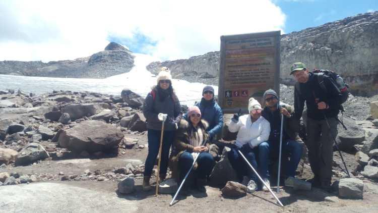Salidas grupales al nevado de Santa Isabel
