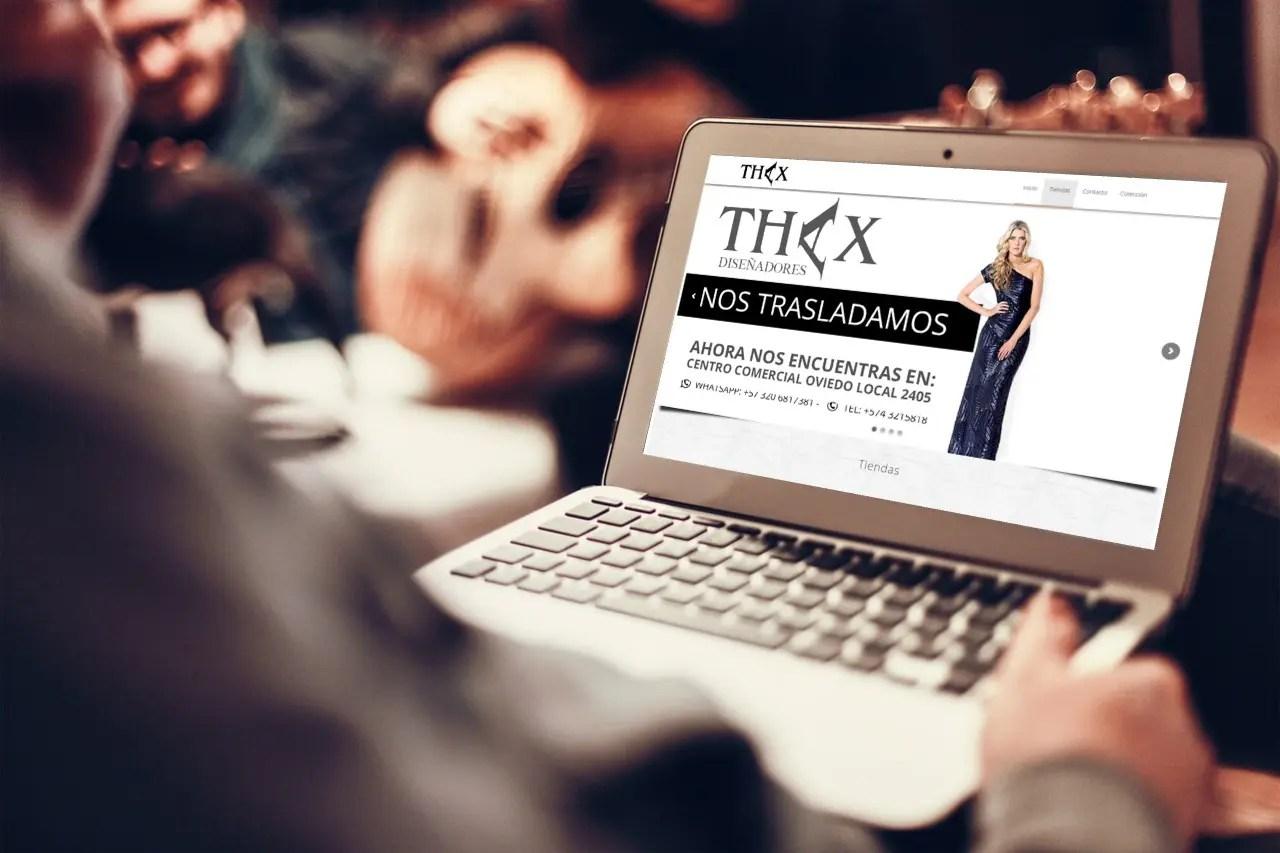 SE LE HA REALIZADO DISEÑO DE SITIO WEB A THAX DISEÑADORES