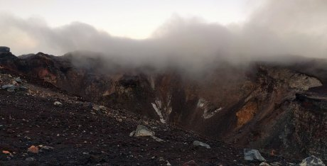 Crater at the summit of Fuji.
