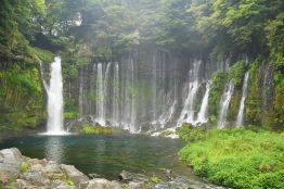 The lush Shiraito Falls.