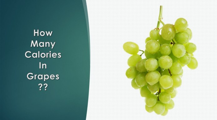 how many calories in grapes