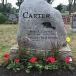 Fieldstone Granite Headstone