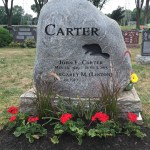 Fieldstone Granite Headstone