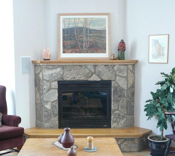 Charcoal Limestone Tumbled Random Fireplace