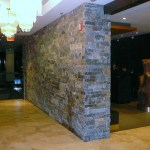 Elite Blue & Colonial Classic Granite Drystack Sawn Height Milestone sidewall