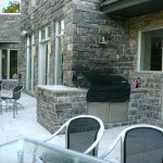Elite Blue Granite Sawn Height house patio