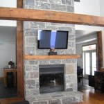 Elite Blue Granite Squared center fireplace