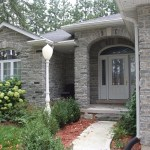 Elite Blue Granite Tumbled Ledgerock house front