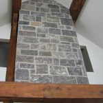 Elite Blue Granite tall fireplace