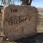 Pink Granite Engraved Sign