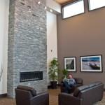 best western elite blue granite ledgerock fireplace